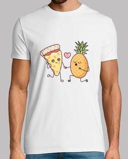 Pizza mit Ananas: eine cartoon zu liebe