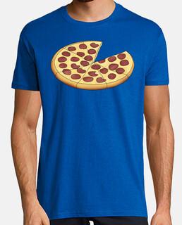Pizza Papa - Hombre, manga corta, azul royal, calidad extra