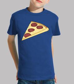 pizza per bambini - bambina, mezza manica, blu royal