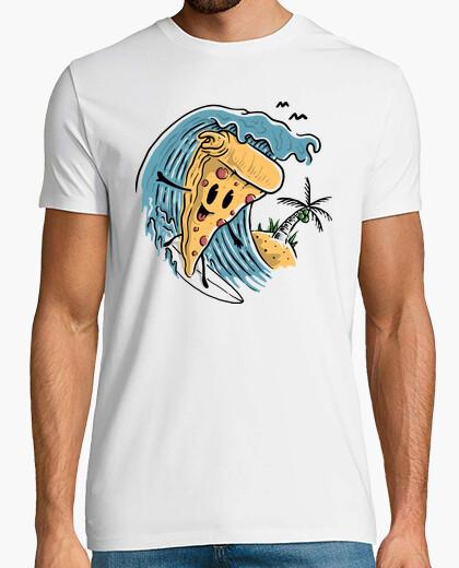 Tee-shirt pizza surfer