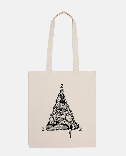 pizzza cloth bag, natural color