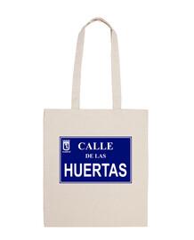 Placa de la Calle de las Huertas