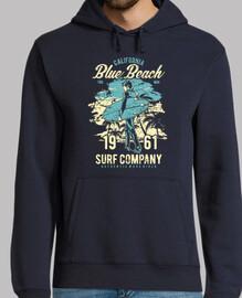 plage bleue