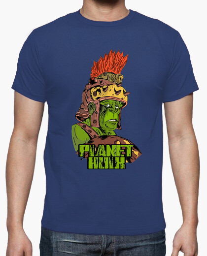 Camiseta Planet Hulk  azul chico
