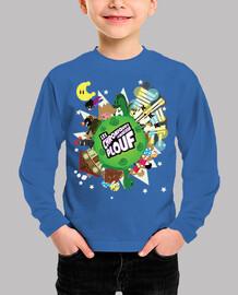 planet splash by mr. tony - kids t-shirt