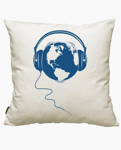 Housse de coussin planète audio