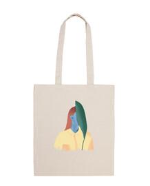 plant face - 100% cotton fabric bag