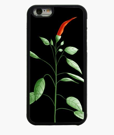Funda iPhone 6 / 6S planta de ají picante dibujo botánico