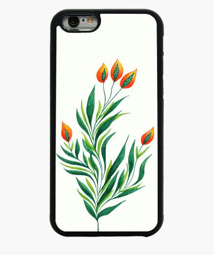 Funda iPhone 6 / 6S planta verde con brotes de naranja