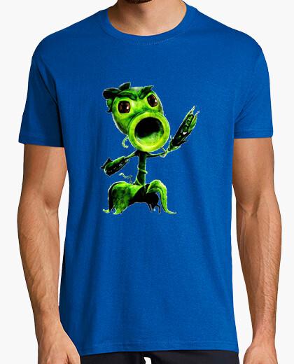 Camiseta plantas vs zombies lanza guisantes