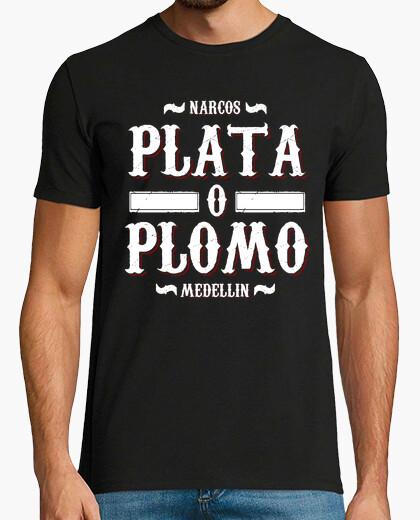 Tee-shirt Plata o Plomo (Narcos)