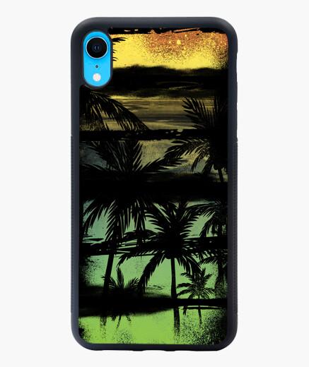 Funda iPhone XR Playa palmeras