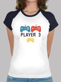 Player#3,videogame.embarazo,Mujer, estilo béisbol, blanca y azul marino