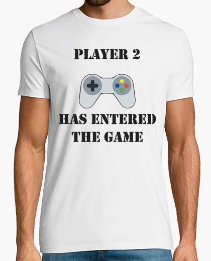 Camiseta player 2 has entered the game / jugador