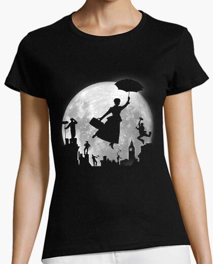 Tee-shirt pleine lune sur les toits de londres