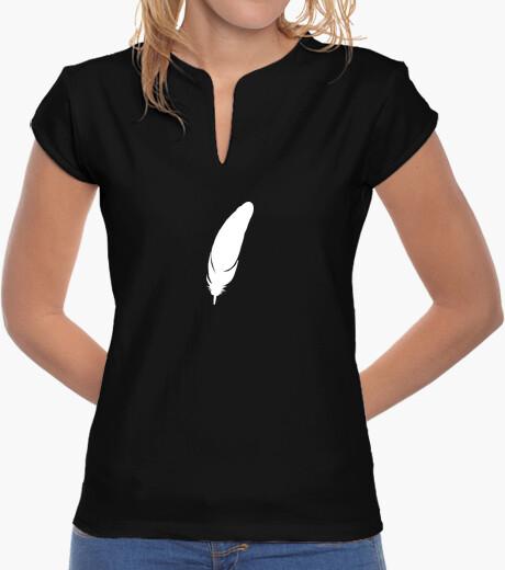 Camiseta Pluma blanca (Mujer)