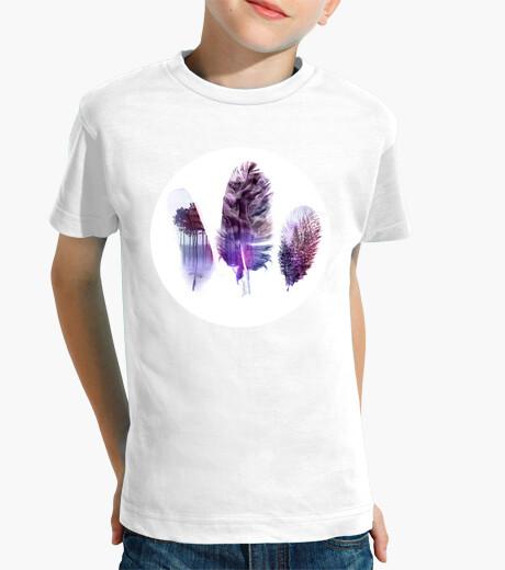 Vêtements enfant Plumes violettes