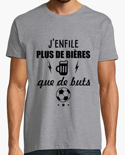 Tee-shirt Plus de bière que de but football