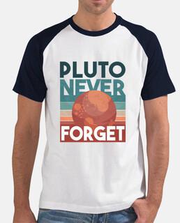 Plutón nunca olvide la camiseta retro d