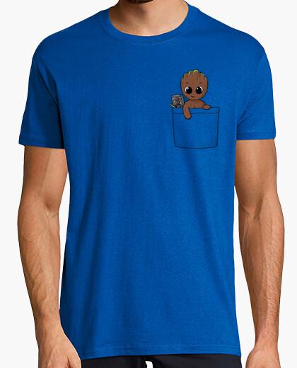 Tee-shirt poche bébé groot