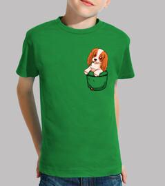 poche cavalier mignon charles spaniel - chemise enfant
