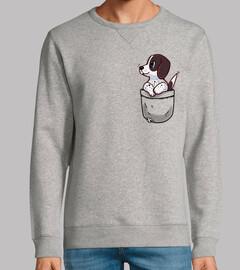 poche chien de pointeur mignon - sweatshirt