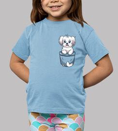 poche chien maltais mignon - chemise enfant