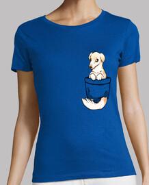 poche chien mignon barzoï - chemise femme