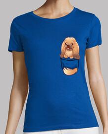 poche chien mignon pékinois - chemise femme
