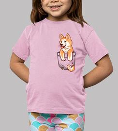 poche chiot akita mignon - chemise pour enfants