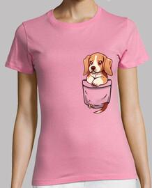 poche mignon beagle - chemise de womans
