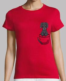 poche mignon chien dogue allemand - chemise femme