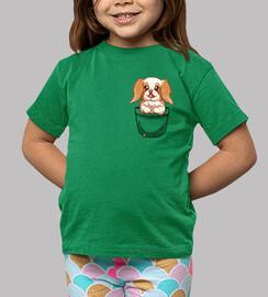 poche mignon chinanese chin dog - chemise pour enfants