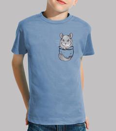 poche mignon chinchilla gris - chemise enfant