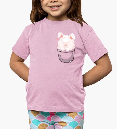 Vêtements enfant poche mignon lapin angora - chemise enfant