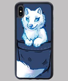 poche renard arctique mignon - coque iphone