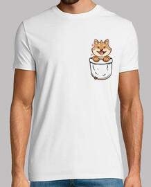 poche shiba inu - chemise pour hommes