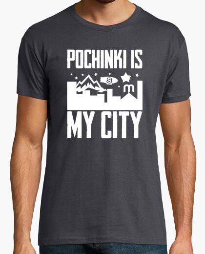 Camiseta Pochinki is my city blanco