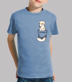 pocket chien mignon barzoï - chemise enfant