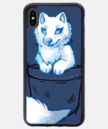 Pocket Cute Arctic Fox - iPhone Case
