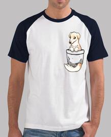 pocket cute barzoi dog - chemise de baseball pour homme