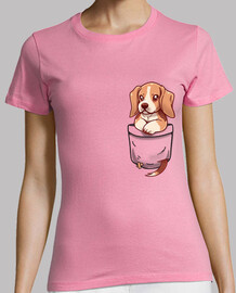 Pocket Cute Beagle - Womans shirt