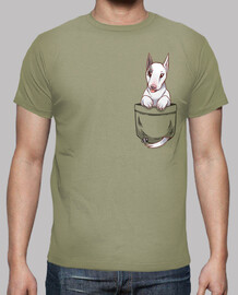 Pocket Cute Bull Terrier Dog - Mens shirt