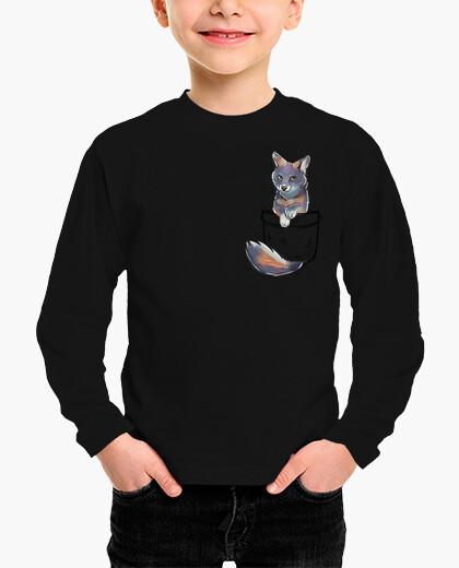 Ropa infantil pocket cute channel island fox - camisa para niños