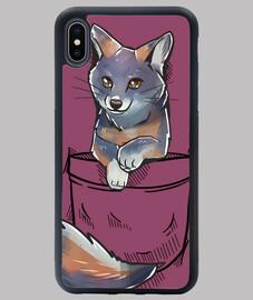 pocket cute channel island fox - funda para iphone