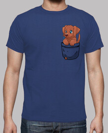 Pocket Cute Chocolate Labrador - Mens shirt