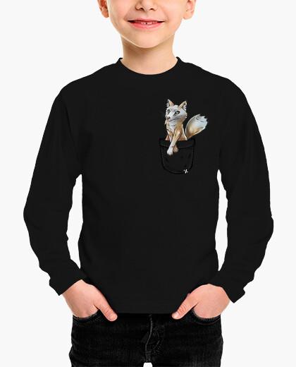 Ropa infantil pocket cute corsac fox - camisa para niños