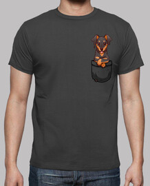 Pocket Cute Dobermann Dog - Mens Shirt