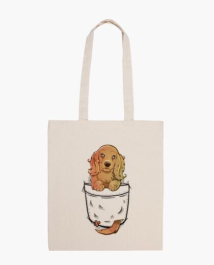 Pocket Cute English Cocker Spaniel Dog - Tote Bag