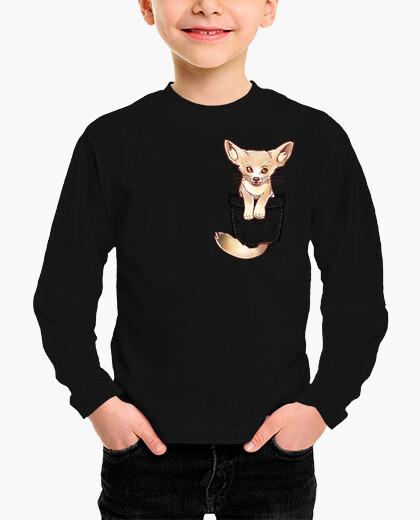 Ropa infantil pocket cute fennec fox - camisa para niños